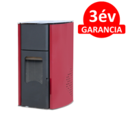 FALCON COMODO CENTRAL P25 vízteres pellet kályha (25 kW - Bordó)
