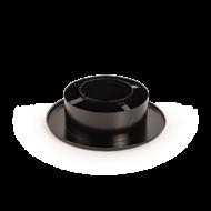 160/80 Rozsdamentes szűkítő és rozetta (fekete)