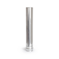80 x 500 mm rozsdamentes pellet kályha füstcső - fémszínű