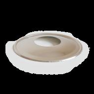 Rozsdamentes pelletkályha füstcső rozetta - fémszínű (80 mm)