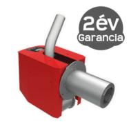 BURNIT Pell 20 kW pellet égőfej emelt levegő nyomású tisztítással és pellet tartállyal