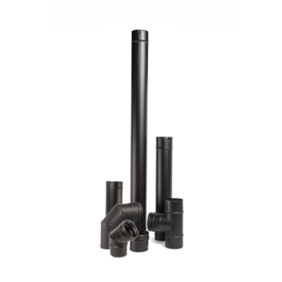 Rozsdamentes füstcső készlet (ZV 14-24 és ZVB 16-24, fekete - 80 mm)