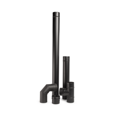 Rozsdamentes füstcső készlet (Z/ZS/ZR sorozat, fekete - 80 mm)