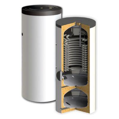 SUNSYSTEM SWPH 250/60 kombinált használati meleg víz és puffer tartály hőszivattyúhoz - extra méretű hőcserélővel
