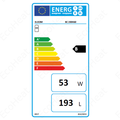 ELDOM BC 200 energia címke