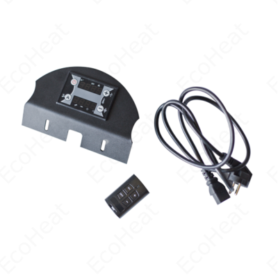 FALCON Trend pellet kályha vezérlő panel, tápkábel és távirányító