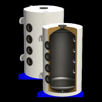 Sunsystem PSM 100 hűtési és fűtési puffer tartály szigeteléssel hőszivattyúhoz (100 liter)