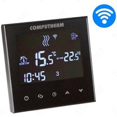 COMPUTHERM E300 programozható digitális Wi-Fi szobatermosztát központi fűtéshez és hűtéshez (üveg fedőlappal)
