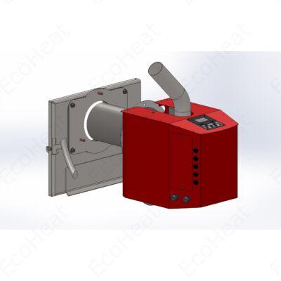 Burnit Pell BIO pellet égőfej felszerelése kazán ajtóra